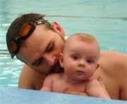 baby swimming at 20 weeks old